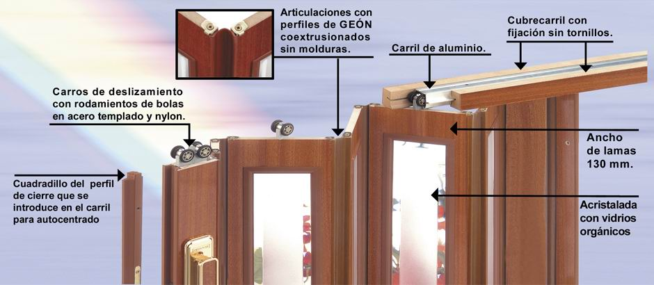 Puertas plegables econ micas madrid medici n - Puertas plegables madera ...