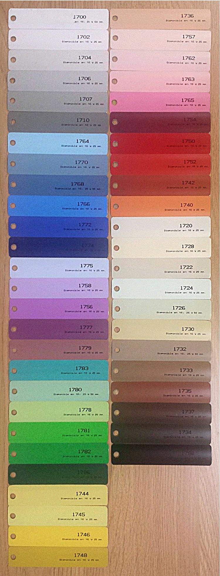Muestrario De Colores De Persianas Venecianas